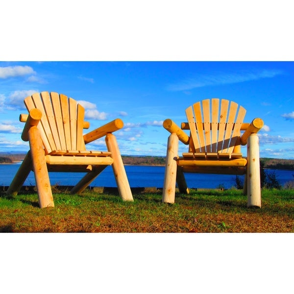 Handcrafted Northern White Cedar Adirondack Outdoor Chair  sc 1 st  Overstock.com & Shop Handcrafted Northern White Cedar Adirondack Outdoor Chair ...