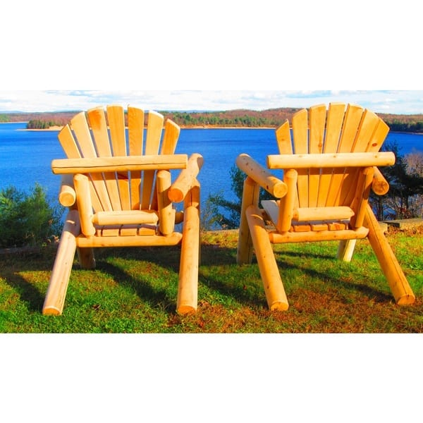 Heavy Duty Sun Lounger, Shop Handcrafted Northern White Cedar Adirondack Outdoor Chair Overstock 9218623