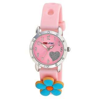 Girl's Pink Princess Time Teacher Watch with Attachments