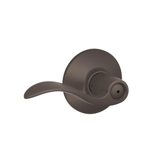 Schlage Accent Oil-rubbed Bronze Bed and Bath Door Lever