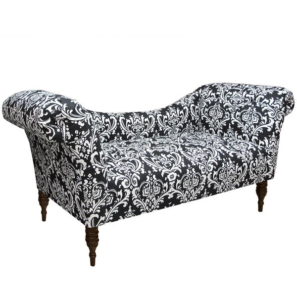 Made to order black white tufted chaise lounge free for Alaina tufted chaise in white
