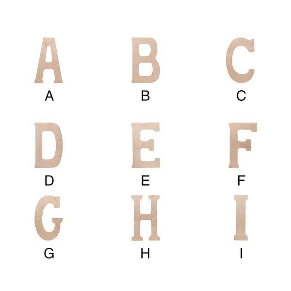 Wood Letter 18x5