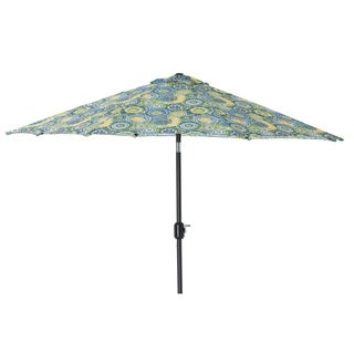 Pillow Perfect Omnia Lagoon 9-foot Patio Umbrella
