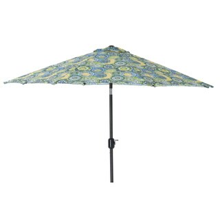 Pillow Perfect Omnia Lagoon 9-foot Patio Umbrella