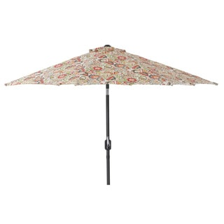 Pillow Perfect Multicolored Floral 9-foot Patio Umbrella