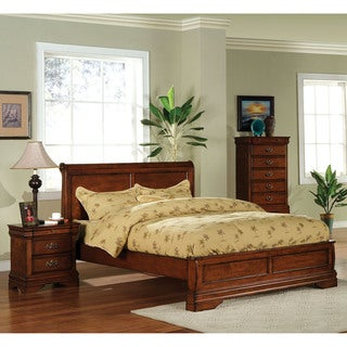 Furniture of America Venice Dark Oak Platform Bed