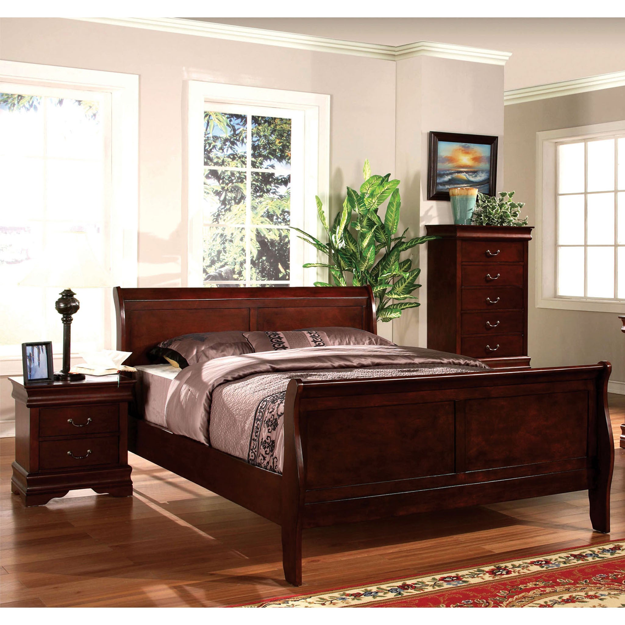 Furniture of America Mayday Paneled Sleigh Bed (Cal King ...