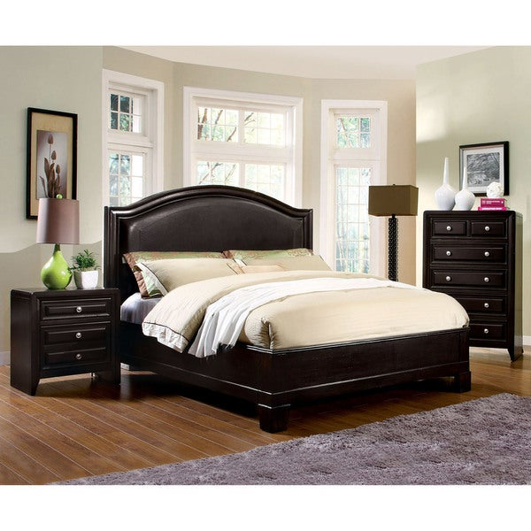 Bedroom Furniture Overstock furniture of america transitional style platform bed - free