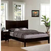 Furniture of America Modern Espresso Cut-Out Headboard Platform Bed