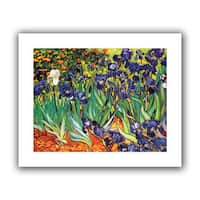 Vincent van Gogh 'Irises in the Garden' Unwrapped Canvas - Multi