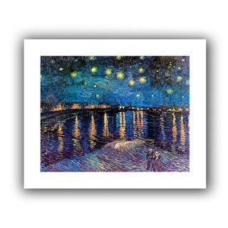Vincent van Gogh 'Starry Night Over the Rhine' Unwrapped Canvas - Multi