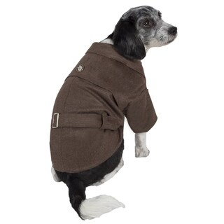 Pet Life Galore Back-buckled Fashion Wool Pet Coat