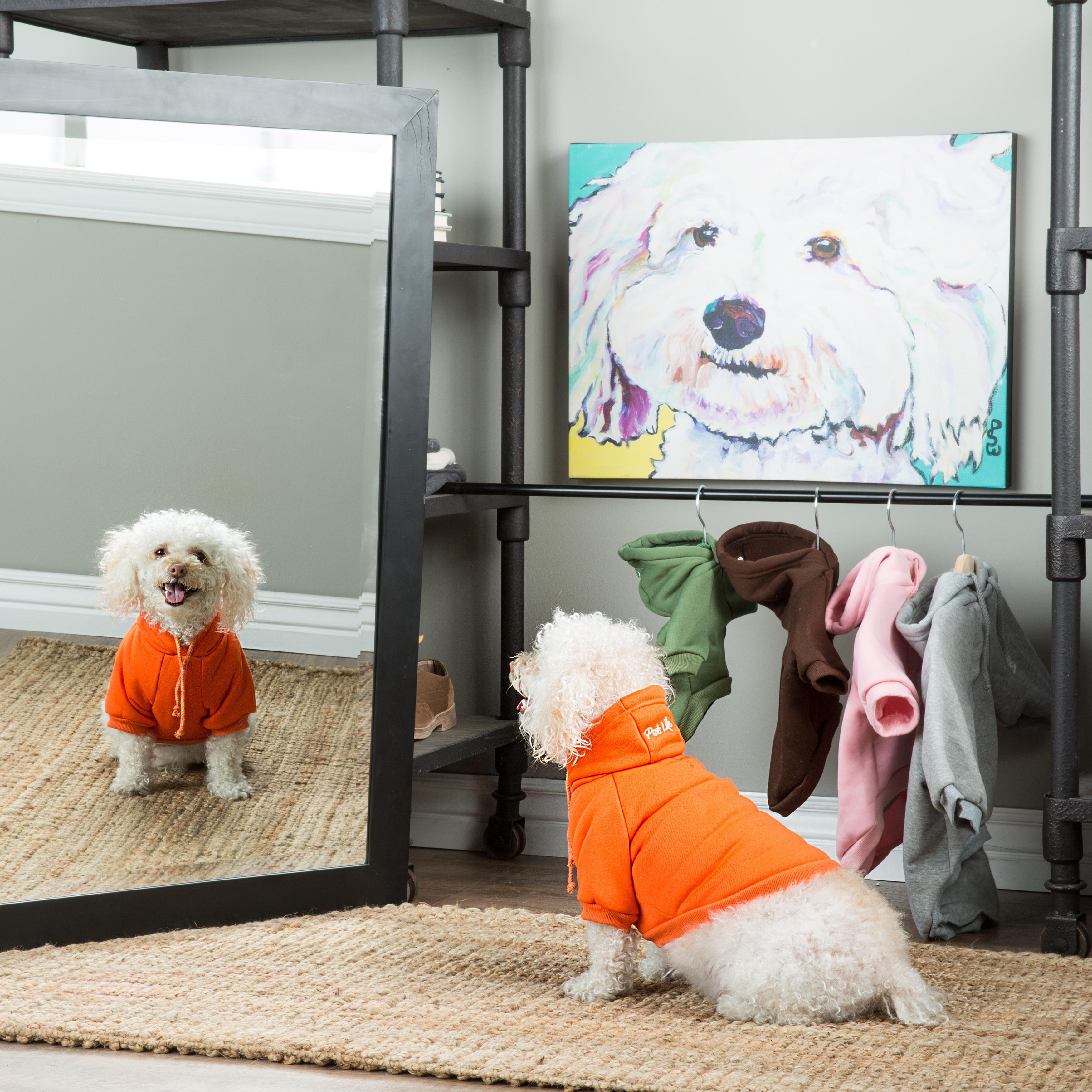 Pet Life Hooded Pet Sweatshirt (Small - Grey)