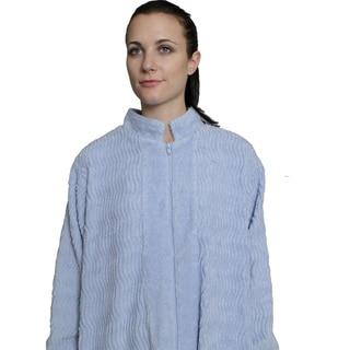NDK New York Women's Cozy Zipper Front Chenille Robe