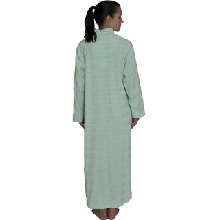 NDK New York Women's Cozy Zipper Front Chenille Robe