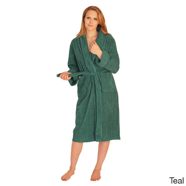 NDK New York Women's Mid-calf Wide Ribbed Chenille Robe (...