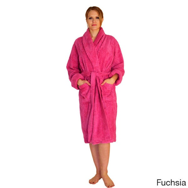Shop NDK New York Women s Mid-calf Wide Ribbed Chenille Robe - Free ... 66bb2cab2