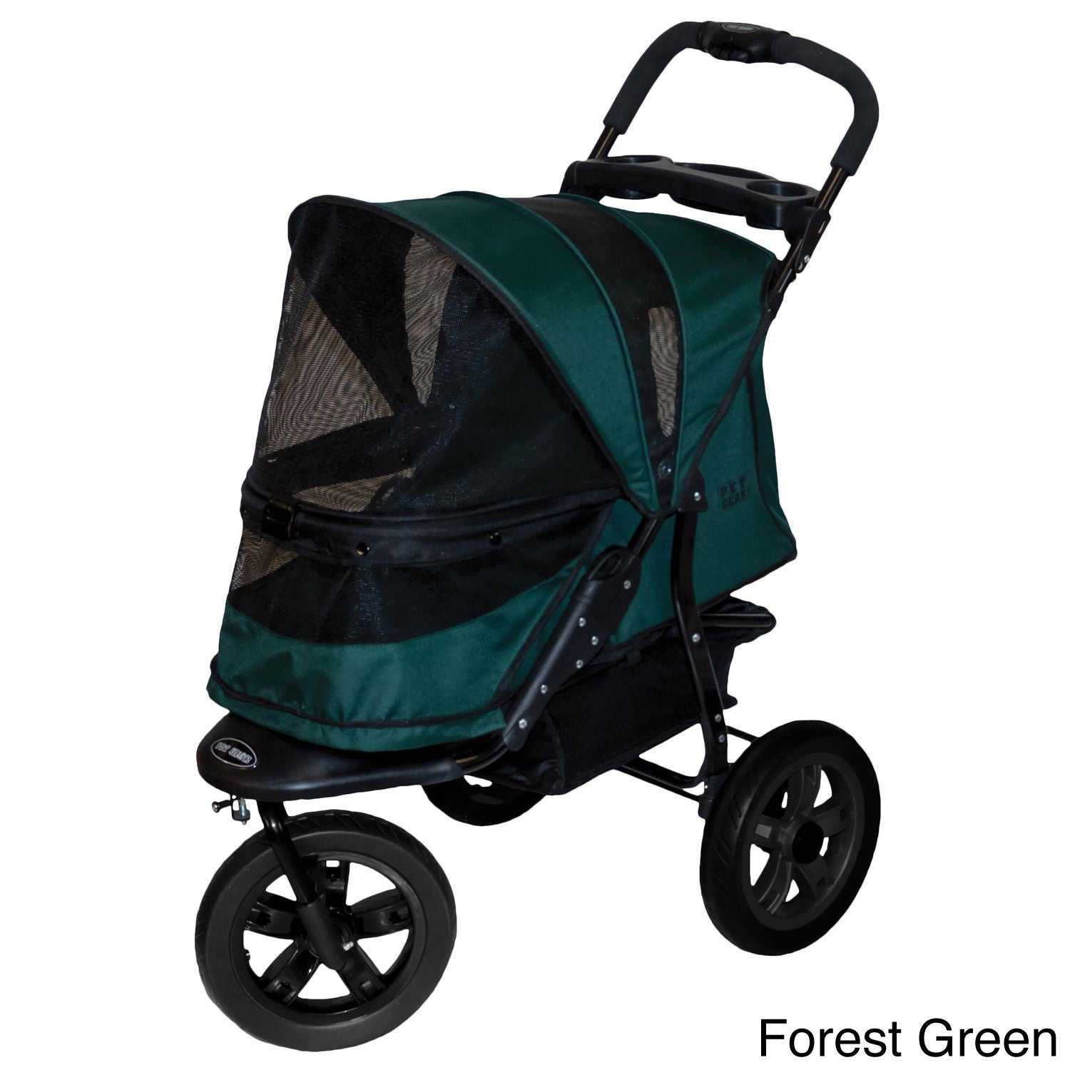 Pet Gear No-zip AT3 Pet Stroller (Forest Green), Size Medium