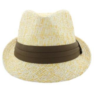 Faddism Men's Fashion Paper Straw Fedora Hat