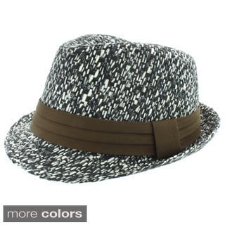 Faddism Men's Fashion Paper Straw Fedora Hat
