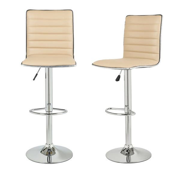 Superb Shop Adeco Adjustable Height Swivel Bar Stool Set Of 2 Gmtry Best Dining Table And Chair Ideas Images Gmtryco