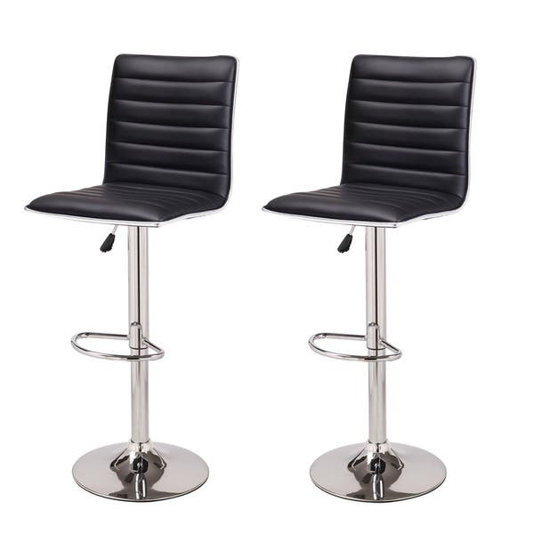 Pleasing Shop Adeco Adjustable Height Swivel Bar Stool Set Of 2 Gmtry Best Dining Table And Chair Ideas Images Gmtryco