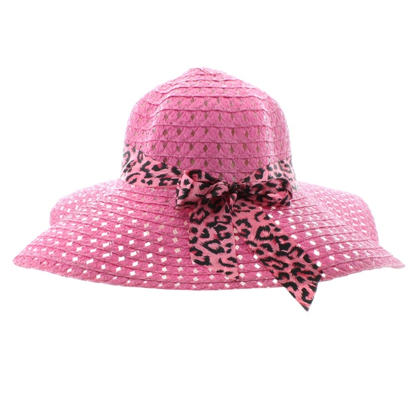 Faddism Women's Summer Straw Hat with Ribbon