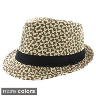 Faddism Men's Banded Fashion Fedora Hat
