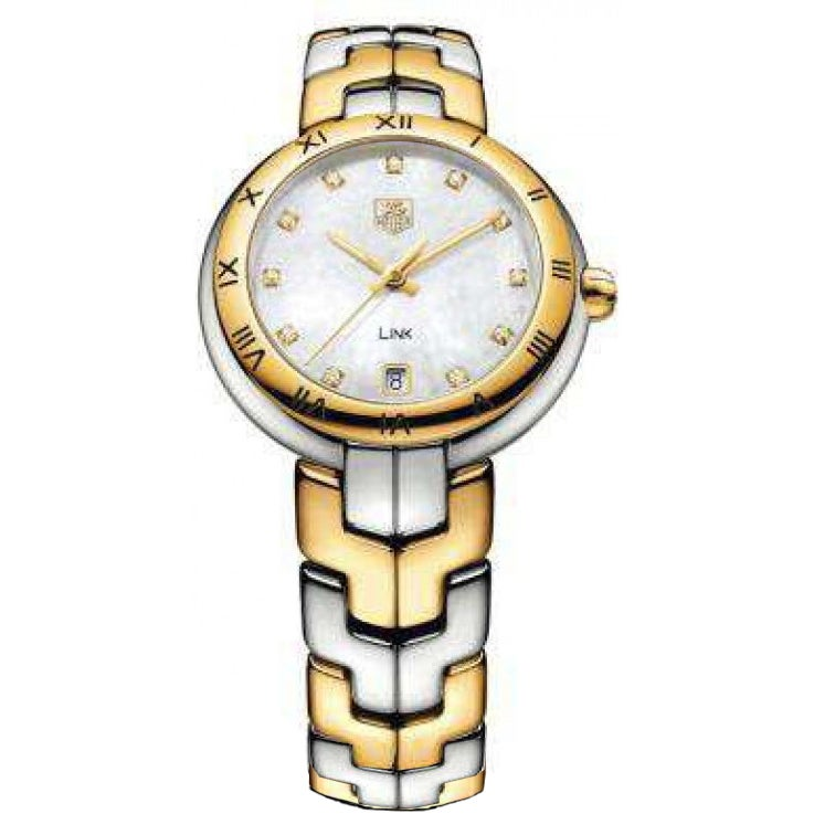 """Tag Heuer Link"""" Women's WAT1353.BB0962 Two-Tone Stainless..."""