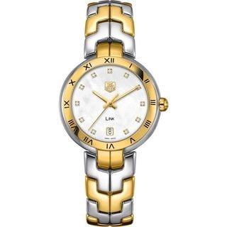 """Tag Heuer """"Link"""" Women's WAT1353.BB0962 Two-Tone Stainless Steel Bracelet Watch"""