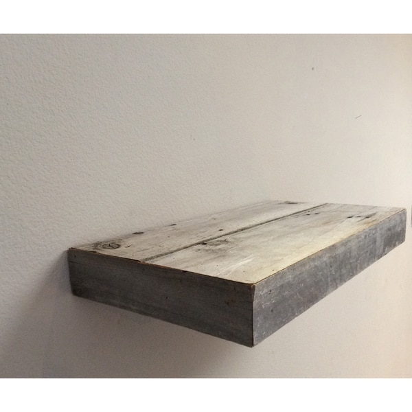 Reclaimed Wood Floating Shelf - Reclaimed Wood Floating Shelf - Free Shipping Today - Overstock