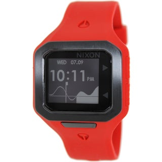 Nixon Men's A316200 Red Silicone Quartz Watch with Digital Dial
