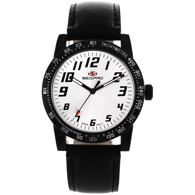 Sea Pro Seapro Women's Bold Black Leather Watch (Seapro W...