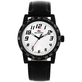 Seapro Women's Bold Black Leather Watch