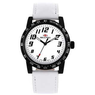 Seapro Women's Bold White Leather Watch