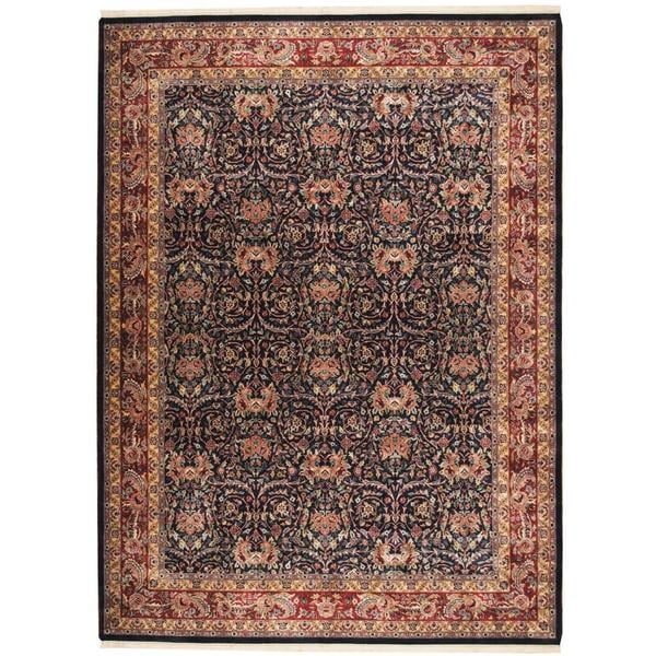 Herat Oriental Indo Hand-knotted Mahal Wool Rug (9' x 12'1) - 9' x 12'1