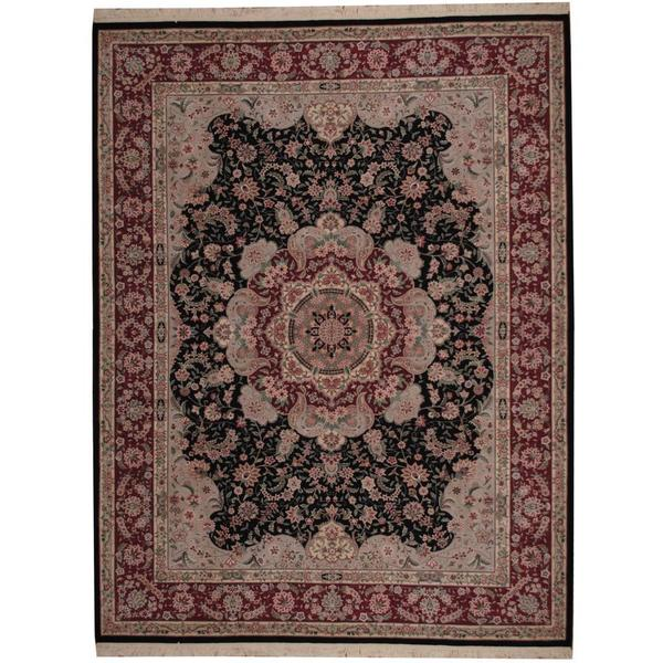 Indo Persian Tabriz Wool Area Rug: Shop Herat Oriental Indo Hand-knotted Tabriz Wool And Silk