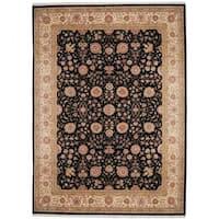 Handmade Herat Oriental Indo Tabriz Wool and Silk Rug (India) - 9' x 12'4