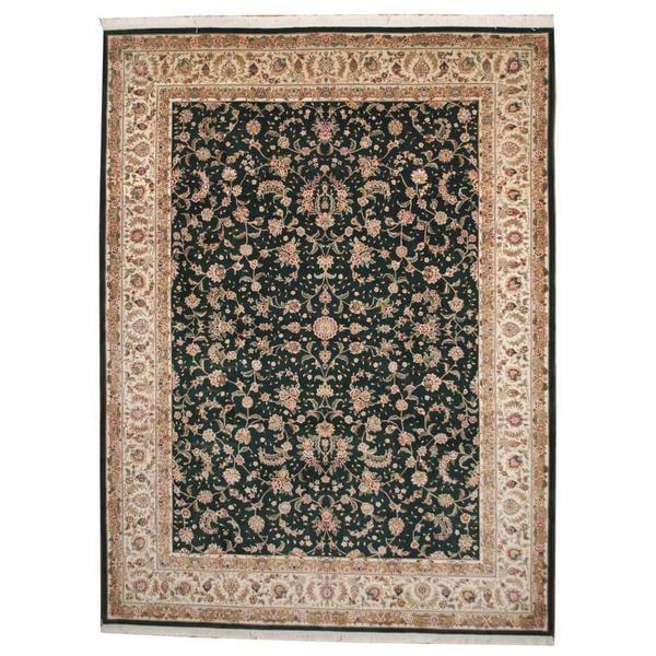 Indo Persian Tabriz Wool Area Rug: Shop Handmade Herat Oriental Indo Tabriz Wool Rug