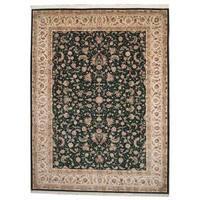 Herat Oriental Indo Hand-knotted Tabriz Wool Rug - 9' x 12'2