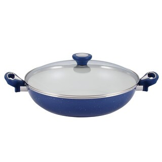 Farberware New Traditions Speckled Aluminum Nonstick 12-1/2-inch Covered Skillet with Side Handles