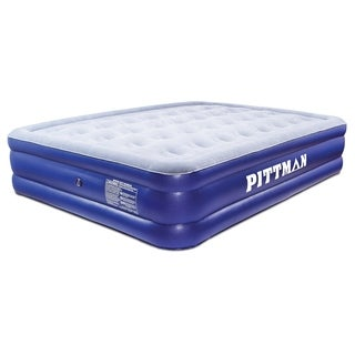 Link to Pittman Outdoors Double High Queen Air Mattress w/Electric Pump - Blue Similar Items in Camping & Hiking Gear
