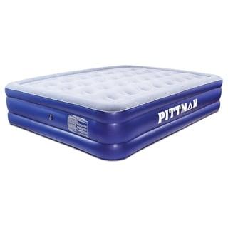 Pittman Outdoors Double High Queen Air Mattress w/Electric Pump - Blue