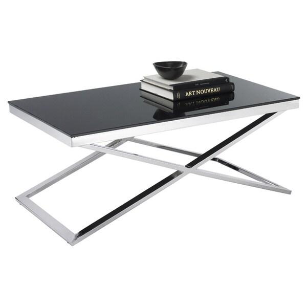 Sunpan Barrett Black Tempered Glass Coffee Table Free Shipping Today 16388134