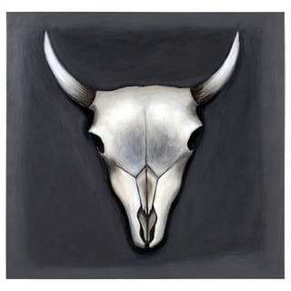 Sunpan 'Ikon' 'Grey Skull' Canvas Art