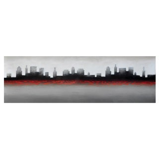 Sunpan 'Ikon' 'Red City' Canvas Wall Art