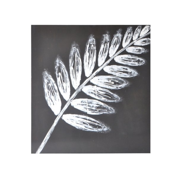 Sunpan 'White Leaf' Contemporary Canvas Wall Art