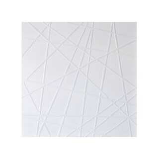 Sunpan 'White Web' Contemporary Canvas Wall Art