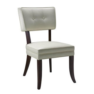 Sunpan '5West' Amelia Ivory Bonded Leather Dining Chairs (Set of 2)