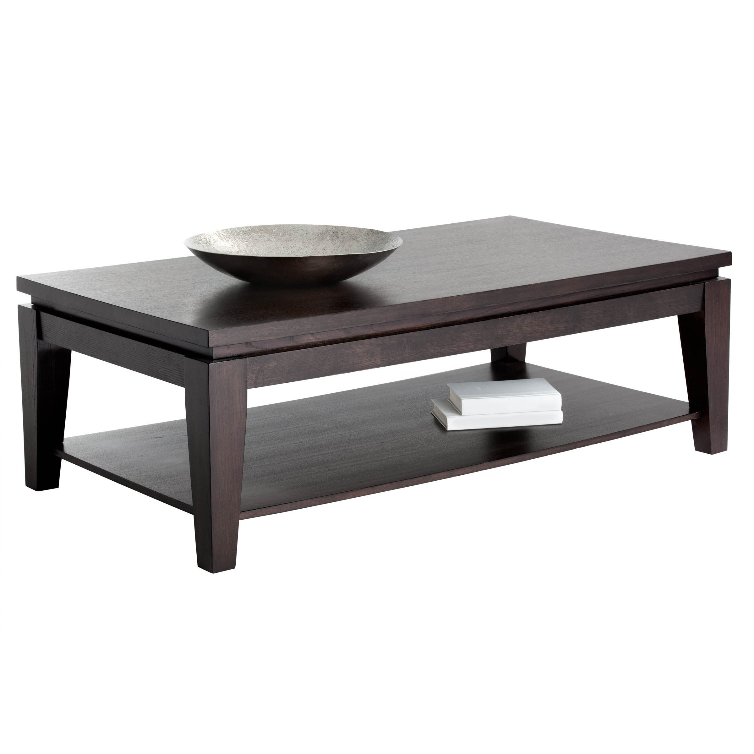 Rectangular Espresso Coffee Table